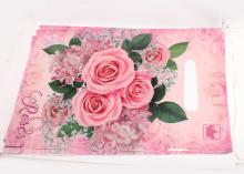 Пакет подарочный Розовые розы, 20х30 см