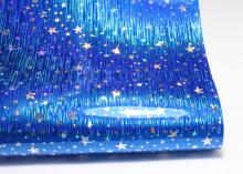 Кожзам Звезды на синем, 20х30 см