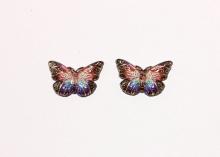 Кабошон Бабочка Коричнево-розовая, 23х16 мм
