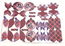 Кожа шаблоны для бантиков Ученица ромбы