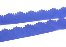 Лента шифоновая с ажурным краем, Темно-синяя, 3 см