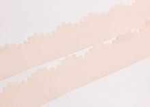 Лента шифоновая с ажурным краем, Светло-персиковая, 3 см