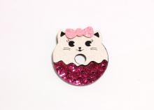 Набор для патча (детали для самостоятельной склейки) Котик пончик, 4,3 см