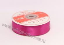 Лента атласная 25 мм, ярко-розовая В-046