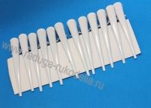 Заколка-уточка белая 12,5 см