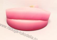 Репсовая лента Градиент розово-малиновый, 25 мм