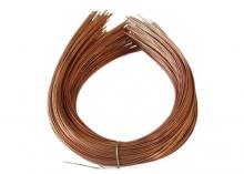 Ободок металл тонкий, 1,2 мм, медь