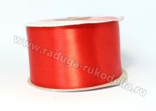 Атласная лента 5 см, темно-красная-033