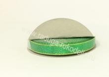 Парча зеленая с люрексом, 12 мм