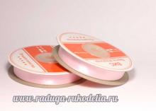 Лента атласная 12 мм, розовая-033