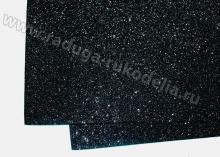 Фоамиран глиттерный черный