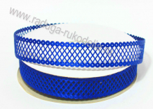 Лента декоративная Сетка, Синяя, 22 мм