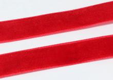 Лента бархатная Красная 43, 25 мм