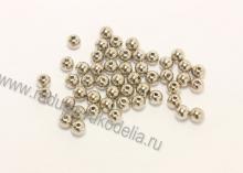 Бусины пластиковые Серебро 6 мм (95-100 шт)