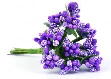 Букетик тычинок (12 шт). Фиолетовые
