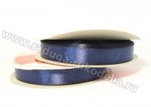 Лента атласная, 12 мм. темно-синяя В-175