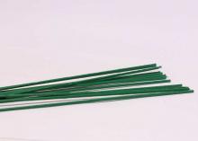 Проволока зеленая. толстая. 2 мм (оплетка пластик), 40 см